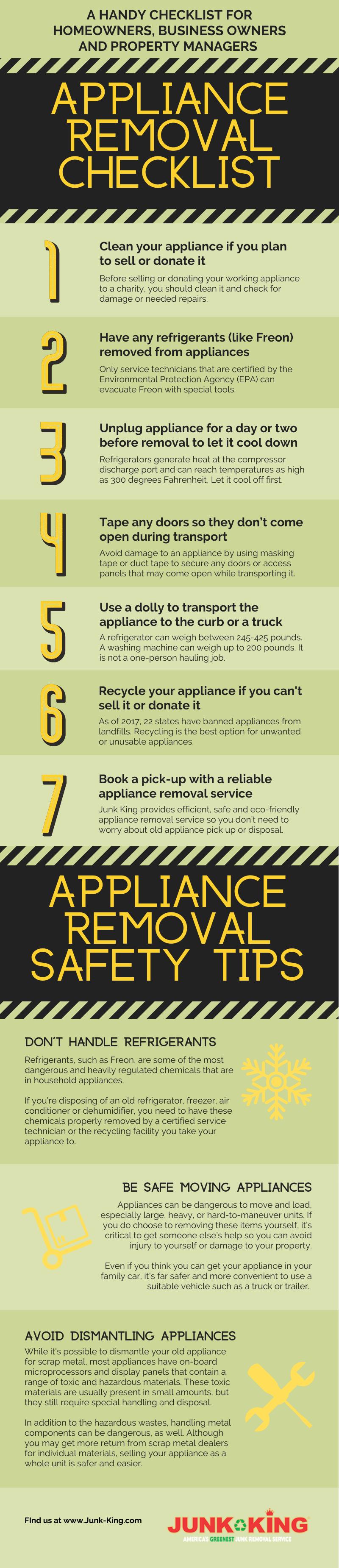Appliance Removal Checklist