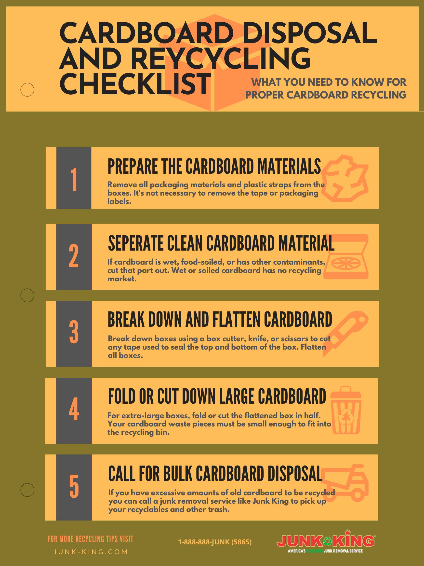 Cardboard Recycling Checklist