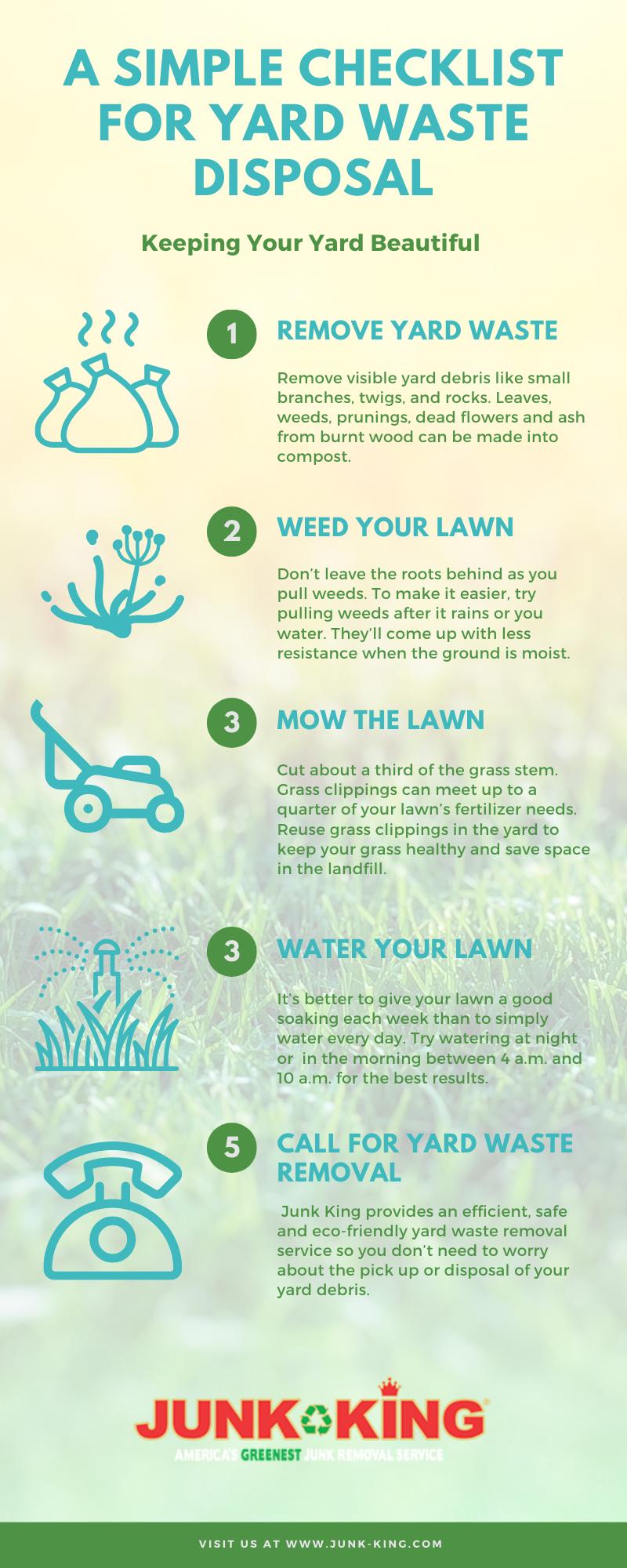 a simple checklist for yard waste disposal