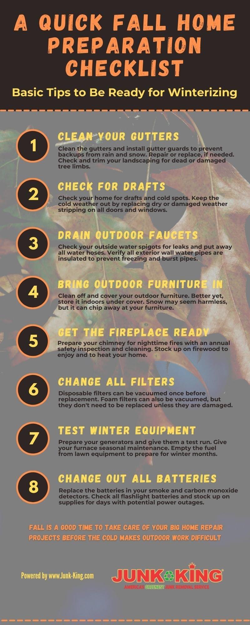 home fall prep checklist