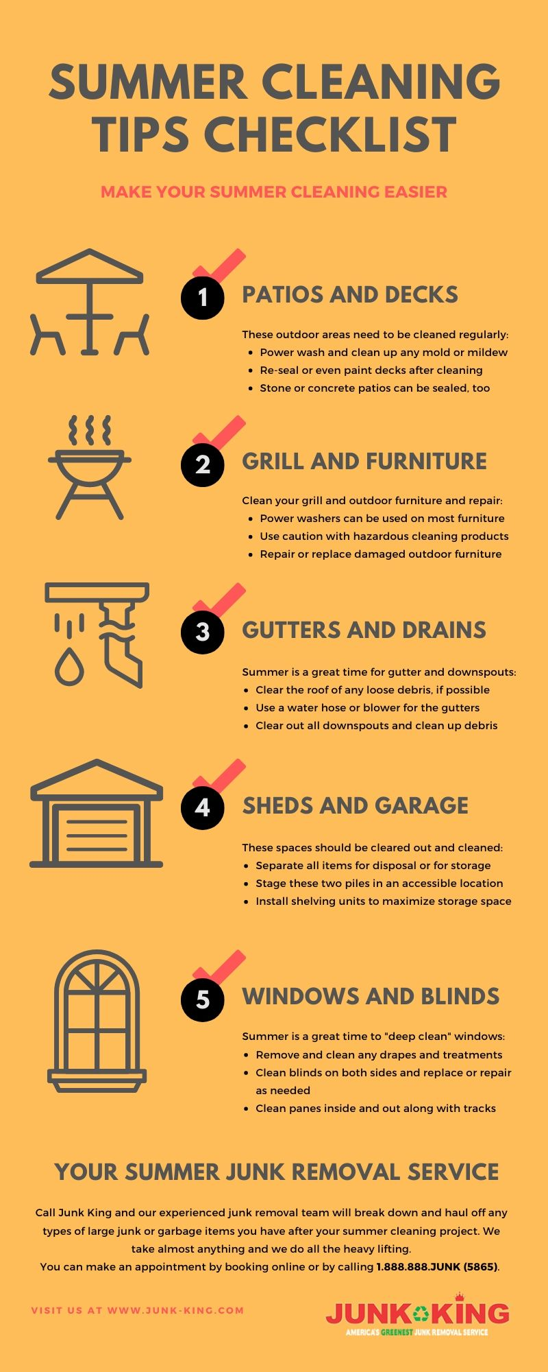 summer cleaning tips checklist